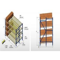Wholesale 800 KG - 4000 KG Per Layer Gravity Pallet Racking System With Steel Roller Type from china suppliers