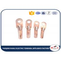 China Cable Crimp Type Terminal Lugs Copper Tube Wire Terminals DT Series on sale