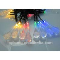flash led lights 5m 20leds solar water drop chiritsmas lights for sale