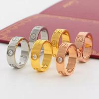 Wholesale Love Ring with Box Birthday Gift Stainless Steel Jewelry 5mm Fashion Famous Cartier Gold Ring for Lover from china suppliers