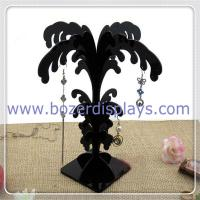Quality Black Acrylic Earring Stand Tree Display Stand Earring Tree Jewelry Display for sale