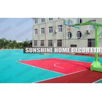 China Coloured Modular Sports Flooring Tiles With Suspended Drain Top For Volleyball Courts on sale