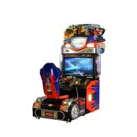 China Upright Car Racing Coin Operated Game Machine For Shopping Mall on sale