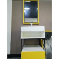 China Stainless Steel Bathroom Sink Cabinets With Stone Sink  Easy To Install for sale