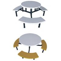 Buy cheap fiberglass or FRP round dining table with stools from wholesalers