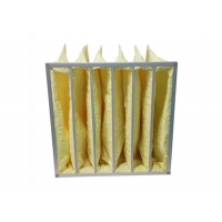 Wholesale Yellow Water Resistant MERV14 Pocket Air Filters / Bag Air Filter For HVAC Systems from china suppliers