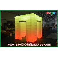 China 2 Opening Door Cube Light Inflatable Photo Booth With Top Led on sale