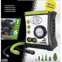 Wholesale Car Air Pump with Lamp, Warning, Inflation function, DC 12V 100PSI from china suppliers