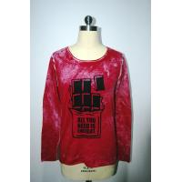 Wholesale Floral Print Sweater , Very Soft Cotton Blends Red Print Knitted Pullover from china suppliers