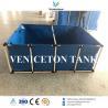 Hot-sale flexible fish tank & fish farming tank plastic PVC canvas fish farming tank, round frame fish tank for sale