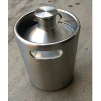 Wholesale 64 oz(2L)and 128(4L)pressurized mini kegs for craft beer with CO2 and tap dispenser from china suppliers