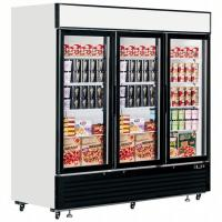 High Efficiency Upright Glass Door Freezer Long Handle Showcase Refrigeration Display Case for sale