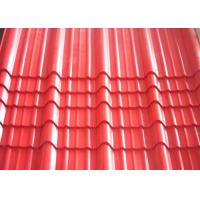 Wholesale Galvanised Corrugated Roofing Sheets , Red Pre Painted Corrugated Steel Sheet from china suppliers