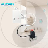 Wholesale Standalone Home Security Combustible Gas Leak Detector LPG Natural Gas Leak Sensor Connect Auto Shut Off Solenoid Valve from china suppliers