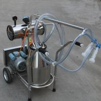 Wholesale Single Bucket Portable Vacuum Pump Milking Machine With 250 l / Min Vacuum Pump Capacity from china suppliers