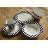 superwhite porcelain/ceramic  19pcs dinnerware set with colour box /round dinner set for sale