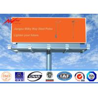 Single Sided Outdoor Steel LED Advertising Board Display 12M-30M Height
