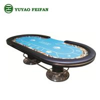 Wholesale Indoor Marble Casino Poker Gaming Table Environment Friendly With Two Metal Legs from china suppliers