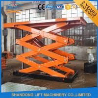 China 4T 7m Stationary Scissor Lift Table Vertical Cargo Lifting Elevator on sale