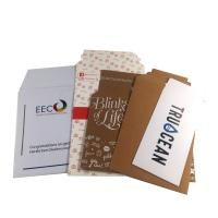 China 100% Recycled Kraft White Paper Mailer Bag with Self-adhesive strip on sale