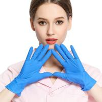Wholesale Blue Disposable Protective Gloves , Nitrile Surgical Gloves Dentist Examination from china suppliers