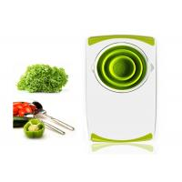 OEM Foldable Plastic Chopping Board With Silicone Collapsible Strainer