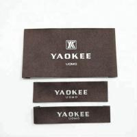 Wholesale Garment labels and tags, brand name 100% polyester fabric woven labels for clothing with wash instruction from china suppliers