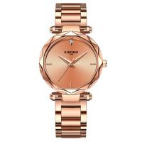China KINYUED high quality metal women stainless steel band quartz movement  waterproof wrist watch for sale