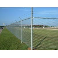Wholesale Steel Galvanized Chain Link Fence With Barbed Wire In The Top from china suppliers