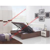 Wholesale Storage bed box with oil bar support in dark oliver painting and white headboard furniture from china suppliers
