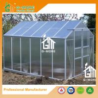 Buy cheap Sliver Color Aluminum 4mm thick Polycarbonate Greenhouse - 424x285x220cm from wholesalers