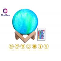 Wholesale Color Changing Moon Lamp / Remote Controlled Illuminated Moon USB Recharge from china suppliers