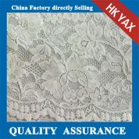 Wholesale 2014 china factory  Upscale beautiful flower design cotton/nylon jacquard lace fabric for evening/formal dress from china suppliers