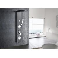 China Digital Temperature Display LED Shower Panel ROVATE With 4 Water Diverters on sale