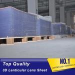 China 20 LPI lenticular lens sheet transparent PS blank flip lenticular lenses plastics sale and export United States for sale