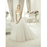 Wholesale Modern Strapless Ball Gown Sweetheart Lace Wedding Dress for Summer , Spring from china suppliers