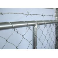 China chain mesh temporary construction fence 8ft x 12ft  mesh 2-3/8 inch mesh opening x 11.5 gauge wire on sale
