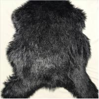 China Soft Plush Faux Fur Rug Low Shed Classsic Black Luxury Long Pile Shag on sale