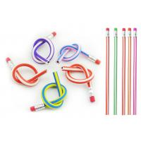Wholesale Flexible PVC Personalized Pencils For Kids With Eraser from china suppliers