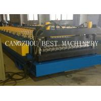 China Corrugated Roofing Sheet Roll Forming Machine 6kw Power 1200mm Feeding Width for sale