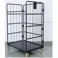 China Black Electro Galvanized Wire Utility Cart For Factory Auto Parts for sale