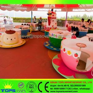 Best HENAN TOPS Amusement Park coffee cup rides\ tea cup rides for sale wholesale