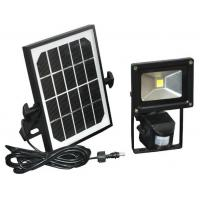 Wholesale 12 / 24 vdc Solar Flood Lights Motion Sensor 10w Polycrystal Panels 1000 lumens from china suppliers