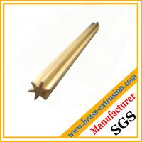 Wholesale star shape brass extrusion profile rods from china suppliers