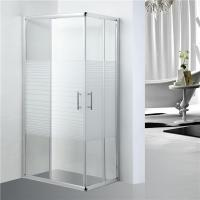 Best Stripe Pattern Bathroom Shower Enclosure adjustment 25mm for each side wholesale