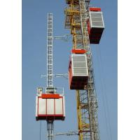 1600kg Double Cage Mast Construction Material Hoist High Reliability , Passenger Hoist