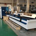 China Fiber Laser Round/Square Metal Tube Laser Cutting Machine for sale