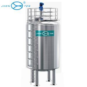China 100000 Liter Stainless Steel Storage Tank Vertical Type For Water / Milk / Juice Storage on sale