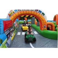 China Kindergarten Baby Inflatable Fun City Football Blow Up Tunnels For Outdoor Activities for sale
