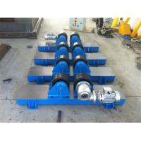 Bolt Adjustment Heavy Duty Roller Stand , Hand Control Box Conventional Welding Rotator